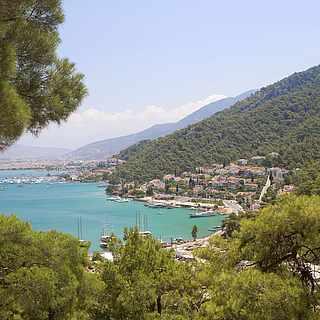 Bucht an der türkischen Ägäis