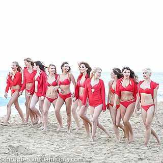 Die Finalistinnen für die Miss Germany-Wahl 2018 am Strand auf Fuerteventura