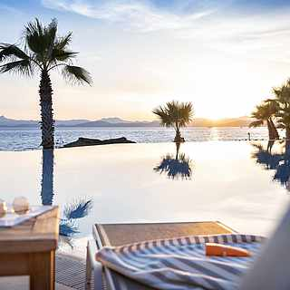 Infinity pool at sunset MAGIC LIFE Bodrum