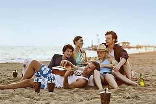 Gitarre Strand Leute- MAGIC LIFE.com